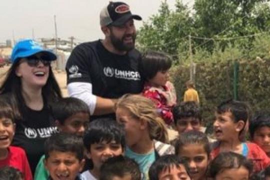 كندة علوش تحتفل باليوم العالمي للاجئين
