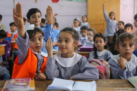 أطفال غزة لا يهجرون الدراسة رغم إجراءات الحد من مرض كورونا