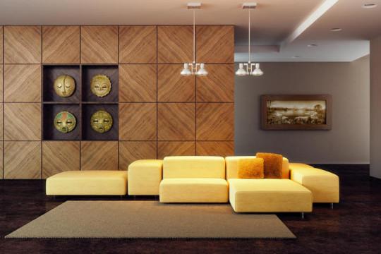 ديكورات خشب للجدران المودرن