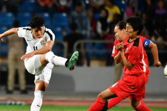 ميساء جبارة لاعبة أردنية تخوض أكثر من 100 مباراة دولية